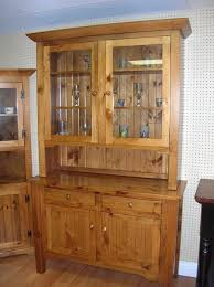 Rustic Pine Sideboard And Hutch Glass Door Kitchen