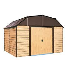 arrow galvanized steel storage shed 10x8 arrow woodhaven 10 ft x 9 ft steel storage building wh109 the