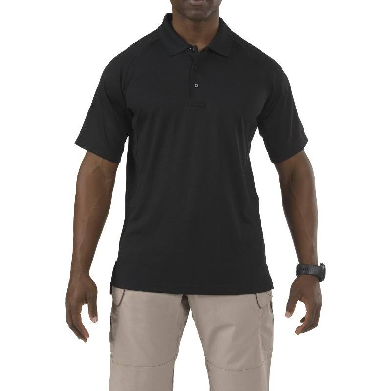 5.11 Tactical #71049 Performance Polo Short Sleeve Shirt - Black, Medium