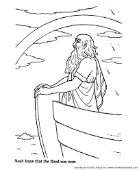 Bible Flood Was Over Noah Saw The Rainbow Promise Print This Story Character Coloring Activity Sheet