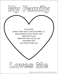 Mormon Share My Family Loves Me Mirror Sign Lds Coloring Book 224 Page