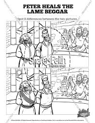 Acts 3 Peter Heals The Lame Man Kids Spot Difference