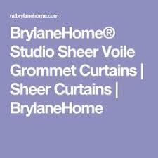 Brylane Home Grommet Curtains by Brylanehome Studio Sheer Voile Grommet Curtains Sheer Curtains