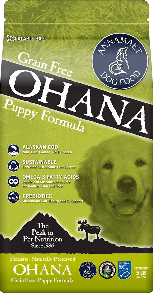 Annamaet Grain-Free Ohana Puppy Formula Dry Dog Food, 12-lb Bag