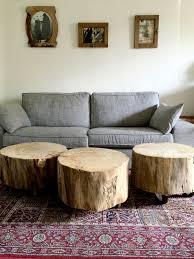deco tronc d arbre table basse tronc d arbre avec sur roulettes le meuble du