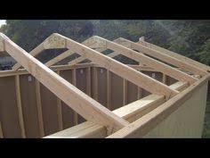 construir hacer una cubierta tejado estructura de madera
