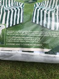 2 Plastic Garden Chair Covers In B64 Sandwell For £5.00 For ...