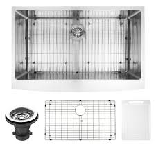 vigo farmhouse stainless steel 36 in single bowl kitchen sink