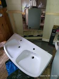 bad garnitur keramik doppel waschbecken