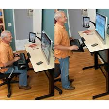 Ergotron Workfit D Sit Stand Desk by Ergotron Workfit D Sit Stand Desk Birch Amazon Ca Computers