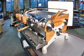 Customized Slayer Espresso Machine Love That Timber Finish