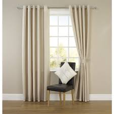 Blackout Curtain Liner Eyelet by Wilko Faux Silk Eyelet Curtains Natural 228 X 228cm At Wilko Com