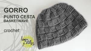 Gorro Uni Crochet o Ganchillo Punto Cesta