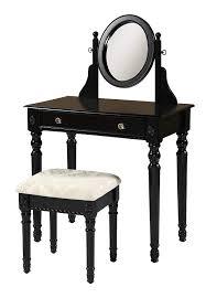 Linon Home Dcor 58010BLK-01-KD-U Linon Home Decor Lorraine Vanity Set, 49