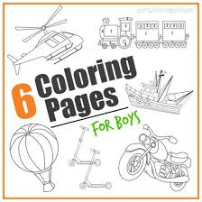 6 Transportation Coloring Pages For Boys