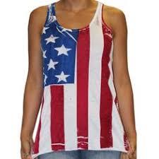 Flowy Racerback Hand Painted American Flag Tank Top