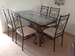 Lovely Dining Table & 6 Chairs In Blaby For £120.00 For Sale ... Portrayal Of Wrought Iron Kitchen Table Ideas Glass Top Ding With Base Room Classic Chairs Tulip Ashley Dinette Set Zef Jam Outdoor Patio Fniture Black Metal Nz Kmart And Room Dazzling Round Tables For Sale Your Aspen Tree Cafe And Chic 3 Piece Bistro Sets Indoor Compact 2 Folding Chair W Back Wrought Iron Dancing Girls Crafts Google Search