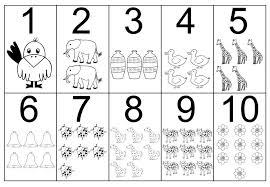Coloring Page 1 10 Pages Spanish Numbers Sheets Pdf