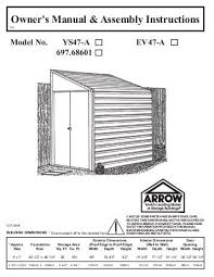 Roughneck 7x7 Shed Instructions by Arrow Shed Assembly Tips 55 Images Yardmaster Metal Shed