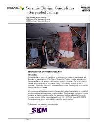 Usg Ceiling Grid Data Sheet by Usg Seismic Guidelines 3 14 Framing Construction Wall