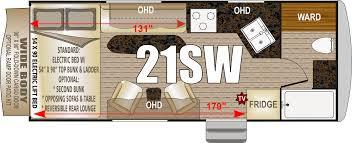 5th Wheel Toy Hauler Floor Plans by Northwood Desert Fox Toy Haulers