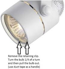 how do you replace a gu10 bulb in a hton bay track light the
