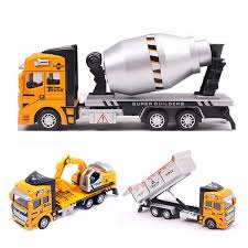 100 Toy Construction Trucks Children Model Pull Back Digger Excavator Construction Vehicle