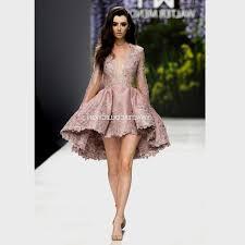 long sleeve lace short prom dress naf dresses