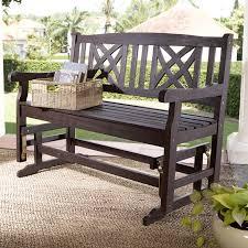 Patio Furniture Loveseat Glider by Coral Coast 4 Ft Seneca Outdoor Wood Glider Loveseat Hayneedle