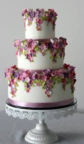 3 Tiered Wedding Cake Love These Colors Together