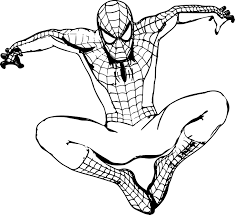 Coloring Pages Spiderman Page Printable Picture