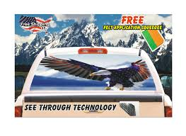 100 Rear Window Graphics For Trucks Soaring Patriotic American Eagle Graphic Vehicle Car