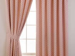 Pink Ruffled Window Curtains by Curtains White Ruffle Curtain Placed On The Light Brown Wall