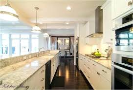Open Galley Kitchen Medium Size Of With Island Dimensions