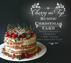 Rustic Christmas Cake 1
