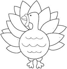 Turkey Coloring Page Pages Printable Free View Larger