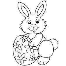 Easter Bunny Coloring Page Egg Pages For Kids