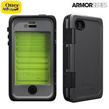 Armor Series Waterproof Case for iPhone 4S 4 Neon Grey