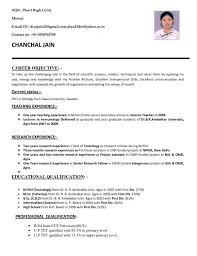 Resume For Teachers Job Application In India Format Teacher Template Resumes