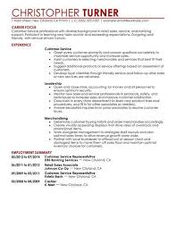 Example Sample Resume Of Customer Service Objective LiveCareer A Concise And Focused Cover Letter