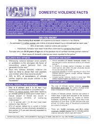 Sample NCADV fact sheet