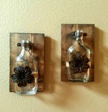 Rustic Decor Glass Vase Wall Kitchen Bathroom