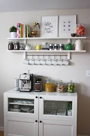 Creative Black Wall Together With Small Cabinet Coffee Bar Ideas Also Kitchen Open Shelves
