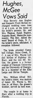 100 Kevin Pruitt Marriage Of Beverly Ann Hughes And McGee Newspaperscom
