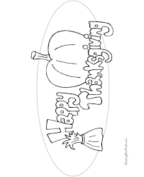 Happy Thanksgiving Coloring Book Pages To Print