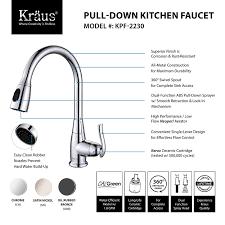 Kraus Carpet Tile Elements by Kraus Kpf 2230sn Single Lever Pull Out Kitchen Faucet Satin Nickel
