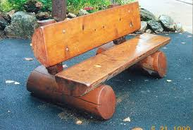 Rustic Cedar Benches Outdoor