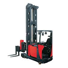100 Turret Truck Electric Forklift Rideon For Very Narrow Aisles Handling A