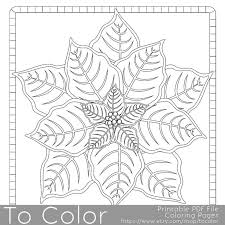 This Christmas Poinsettia Coloring Page For Adults Has A Detailed Design And Is Great