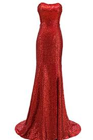sunvary red sequin mermaid evening dress prom woman long
